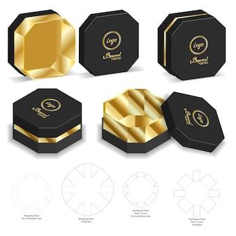Carton rigide carton rigide 3d maquette avec dieline