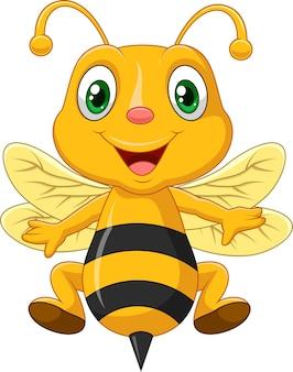 Cartoon adorables abeilles