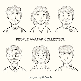 Cartoon avatar people pack