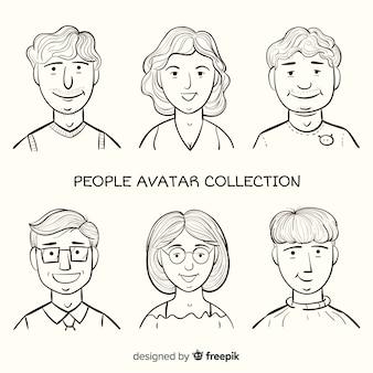 Cartoon avatar people pack