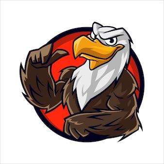 Cartoon eagle muscle