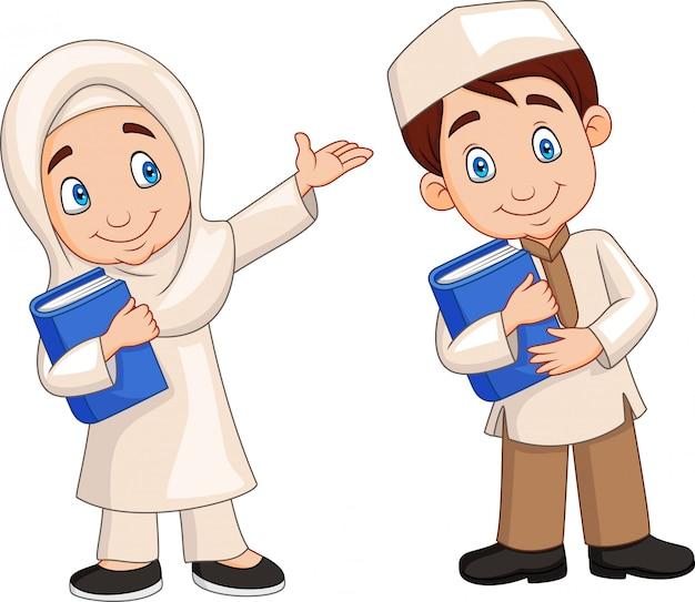 Cartoon enfants musulmans