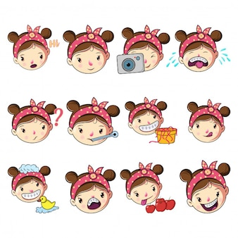 Cartoon girl set