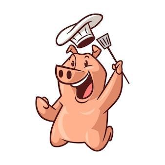 Cartoon happy chef