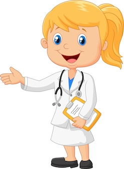 Cartoon illustration a doctor