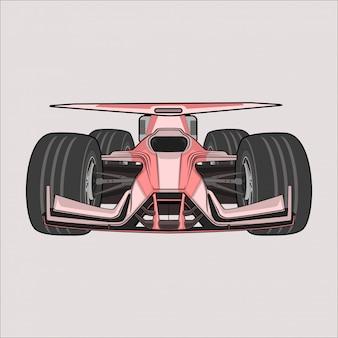 Cartoon illustration voiture formule 1