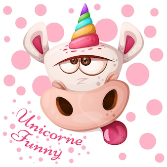 Cartoon licorne personnages