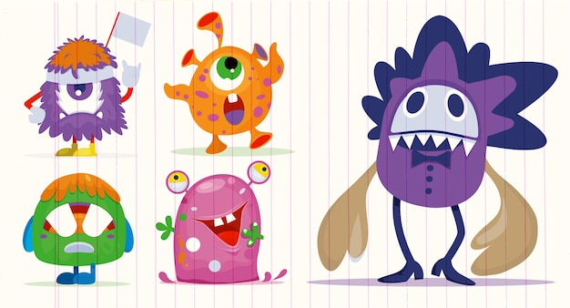 Cartoon monsters pour halloween