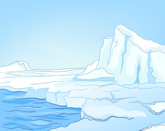 Cartoon nature paysage arctique