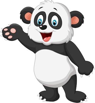 Cartoon panda présentant