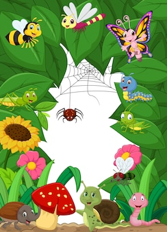 Cartoon petits animaux heureux