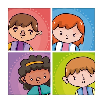 Cartoons homme et femme