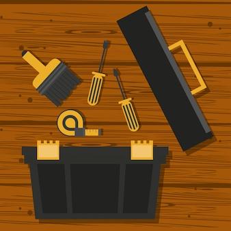 Cartoons outils de construction