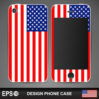 Cas de téléphone de drapeau américain