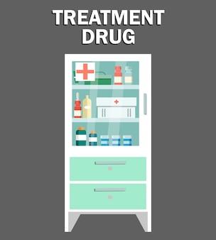 Casier de drogue de traitement