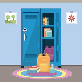 Casier scolaire et fournitures