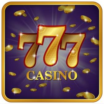 Casino 777 grande victoire avec des pièces volantes