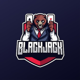 Casino bear blackjack avec carte esports logo