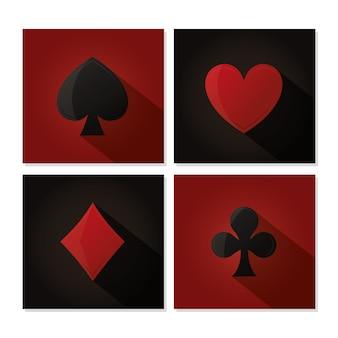 Casino design de jeux vidéo vector illustration design