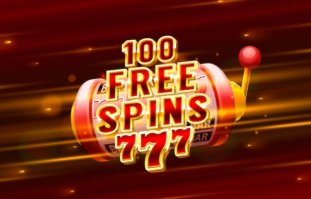 Casino free spin label frame golden banner border gagnant jeu vegas
