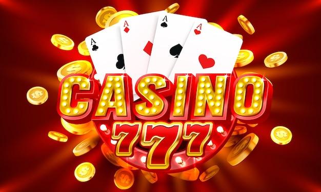 Casino free spin label frame golden banner border gagnant vecteur de jeu vegas
