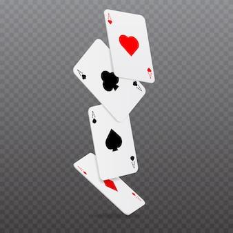 Casino jeu de cartes de poker en chute c