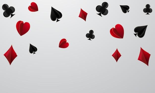 Casino en ligne, machine à sous, jetons de casino volant des jetons réalistes pour le jeu, de l'argent pour la roulette ou le poker,