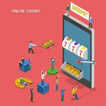 Casino en ligne plat isométrique