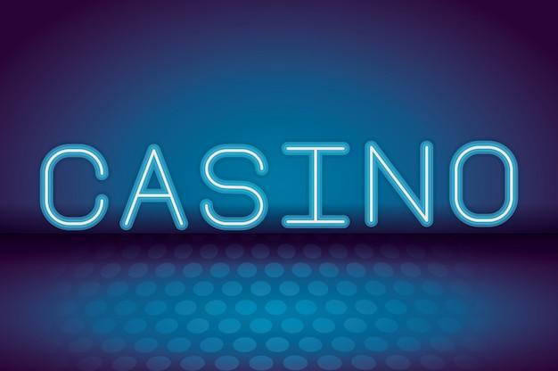 Casino néon publicité