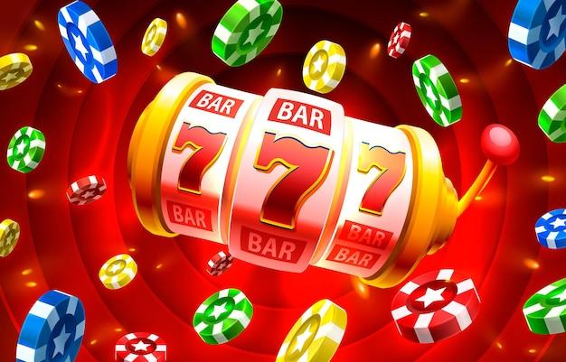 Casino slots icônes slot sign machine nuit vegas vecteur