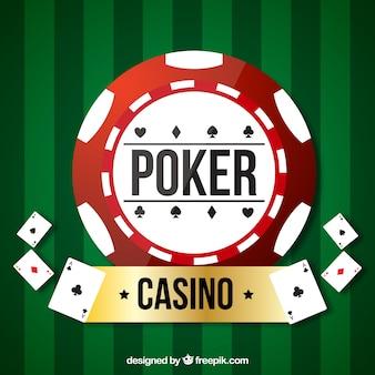 Casino vert et fond de poker