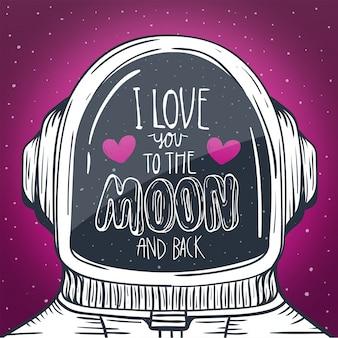 Un casque d'astronaute avec le mot