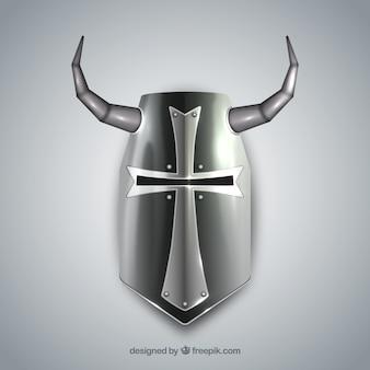 Casque de chevalier au style effrayant