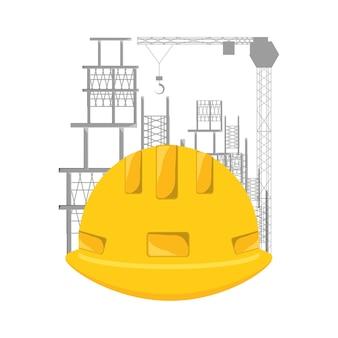 Casque en construction illustration vectorielle de concept