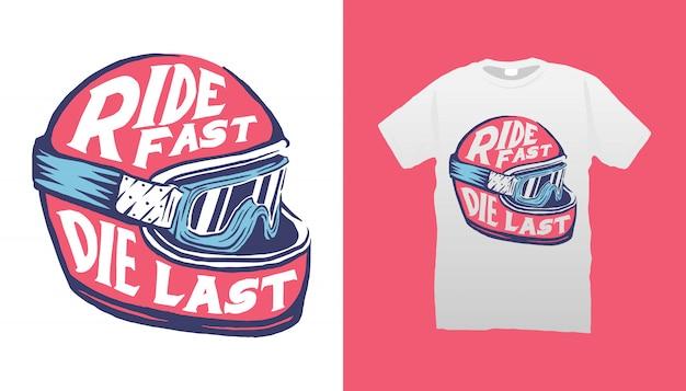 Casque illustration tshirt design