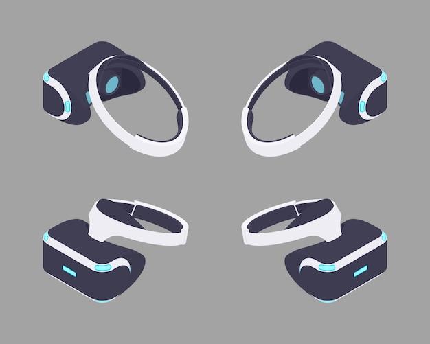 Casque de réalité virtuelle isométrique.