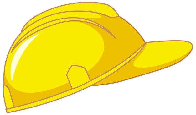 Casque de sécurité jaune isolé