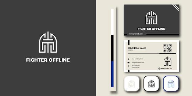 Casque spartiate en couleur facile à changer, ajoutez du texte et d'autres éléments avec une carte de visite