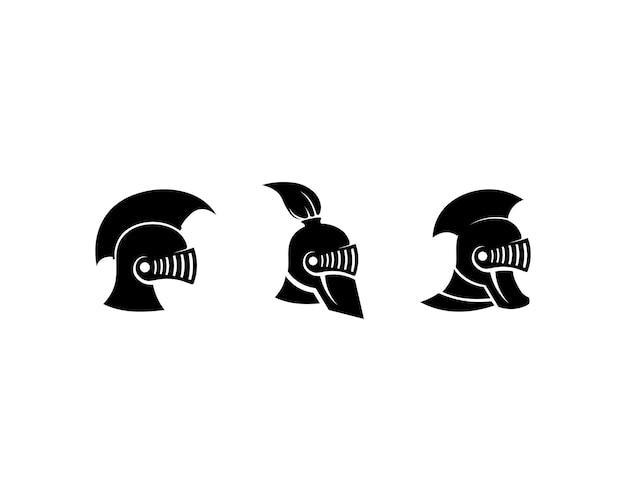 Casque et tête de logo spartan