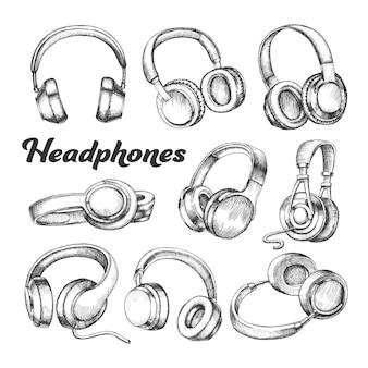 Casques d'écoute différents
