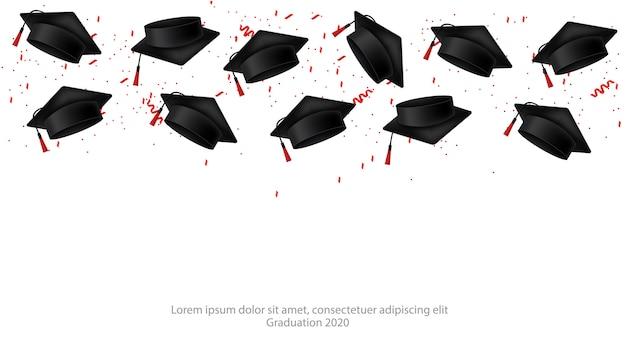 Casquette de graduation réaliste