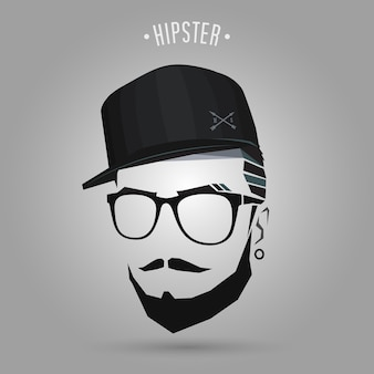 Casquette jeune hipster