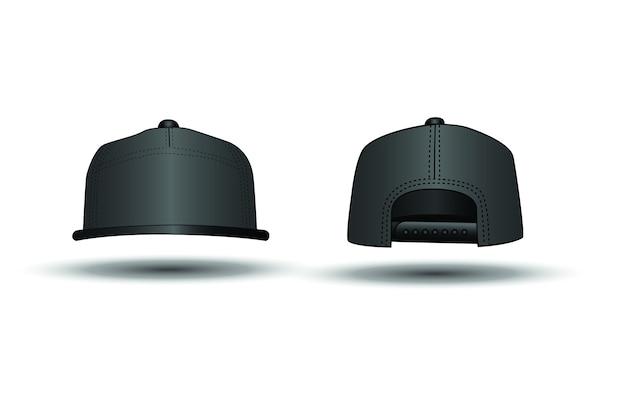 Casquette de rap noir sur fond blanc, dessin vectoriel