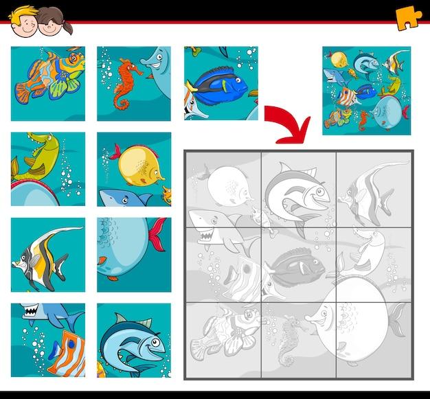 Casse-tête avec des personnages de la vie de la mer