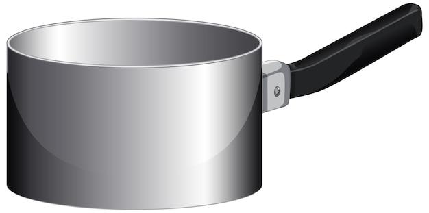 Une casserole vide avec poignée en style cartoon
