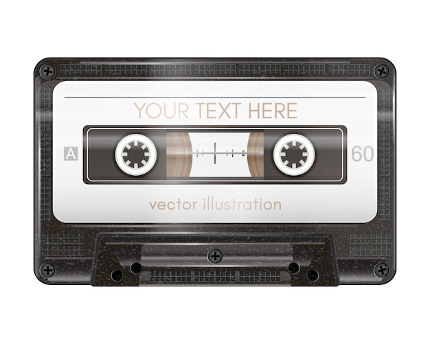 Cassette audio réaliste isolé