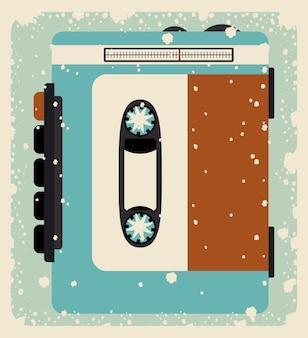Cassette cassette isolé icône design