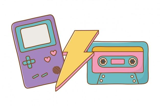Cassette game boy et éclairage