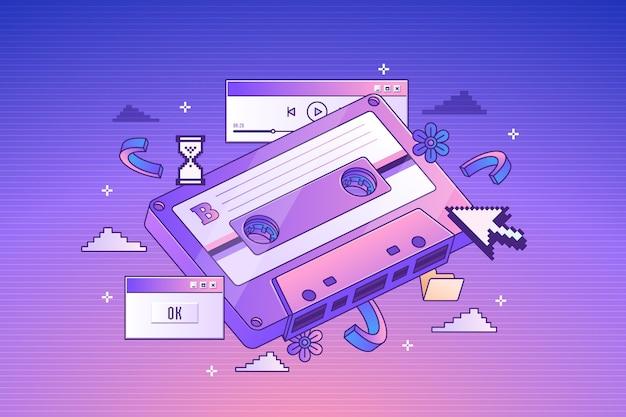 Cassette rétro à gradient linéaire