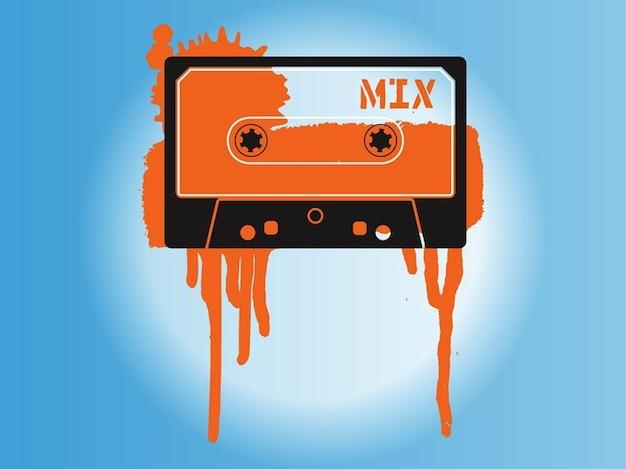 Cassettes audio dans vinatge art